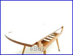 Reversible Teak Coffee Table Mid Century Vintage 1960s