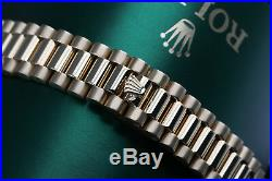 Rolex 26mm Presidential Green Vignette Diamond Dial & Bezel 18k Gold Watch