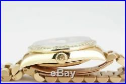 Rolex 36mm Day-Date 18038 Presidential 18k Yellow Gold Black Onyx with Diamonds
