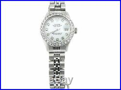 Rolex Datejust Lady Stainless Steel Watch Jubilee White Diamond Dial. 70ct Bezel