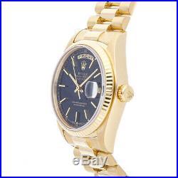 Rolex Day-Date Yellow Gold Auto 36mm Fluted Bezel President Bracelet Mens 18038