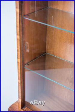 SALE! Vintage Art Deco Glass Display Cabinet, Bookshelf