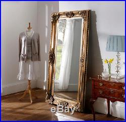Seville Ornate Vintage Full Length Wall Leaner Mirror Gold 36 x 72 / 92 x 183cm