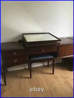 Stag vintage antique furniture original dressing table with mirror and stool