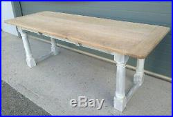 Stunning Vintage Large Oak Top Dining Table / Scrub Top Farmhouse Table
