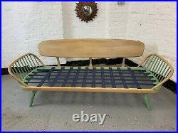 UK DELIVERY, Vintage Mid Century Ercol Studio Day Bed / Sofa Elm Retro chair