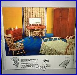 VINTAGE BLONDE SINGLE ERCOL BED FRAME 1960S RARE ORIGINAL model 358 solid beech