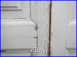VINTAGE WOODEN FRENCH WINDOW SHUTTERS Bi Folding 197X102 RECLAIMED CM TALL