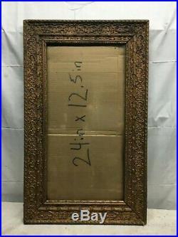VTG 1920 wood Art Deco Picture Frame Art Frame 18.5in x 30in Arts Crafts Antique