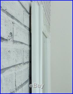 Verona Full Length White Shabby Chic Leaner Wall Floor Mirror 72x29 6ft Tall