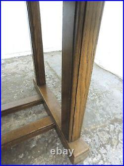 Vintage, 1930's, large, 7'L, oak, draw leaf, extening, dining table, pedestal base, table