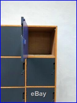 Vintage 1950s Esa Wood School Lockers. Pigeon Holes Retro Industrial. DELIVERY