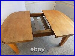 Vintage, 20thC, art Deco, small, oak, extending, dining table, table, seat 6, square legs