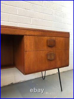 Vintage 60s G Plan Teak Hairpin Desk. Danish Retro Fresco Mid Century