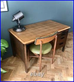 Vintage Abbess Desk 1950s 1960s Mid Century School Teachers Office Desk