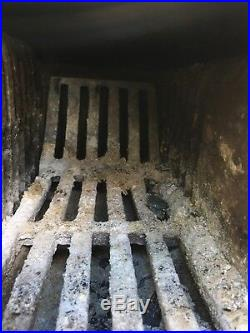 Vintage Antique Cast Iron French Enamel Multi Fuel stove Log Wood Burner