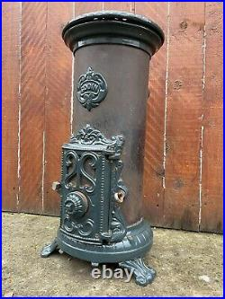 Vintage Antique GODIN french stove wood Log Burner Fire Enamel Multifuel
