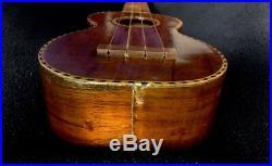 Vintage Antique Kamaka Deluxe 1930s Koa Wood Soprano Ukulele Martin Strings