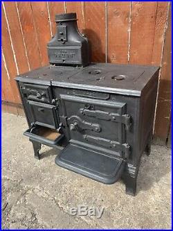 Vintage Antique Victorian THE ORTON Fire Cast Iron Range Cooking Stove