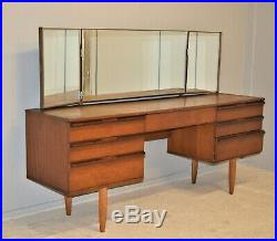 Vintage Avalon Dressing Table With MirrorsTeak Veneer Danish Style Free Delivery
