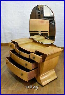 Vintage Birdseye maple full 6 piece bedroom suite