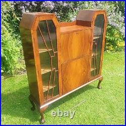 Vintage China cocktail display cabinet glass antique gin mid century art deco