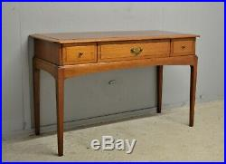 Vintage Console Hall Table with 3 Drawers Teak Veneer Delivery Available