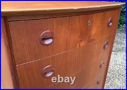 Vintage Danish MID Century Teak Chest Of Drawers Tallboy