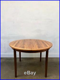 Vintage Danish ROSEWOOD Dining Table Retro. Wegner Vodder Kofod Larsen