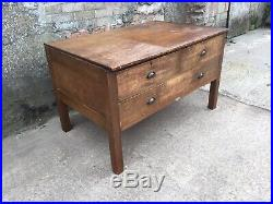 Vintage Deep Drawer Plan Chest Haberdashery Shop Counter Drawers Desk