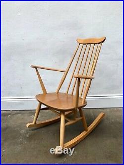Vintage Ercol Blonde Goldsmith Rocking Chair. Retro Danish. Mid Century DELIVERY