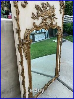 Vintage French Trumeau Wall Mirror