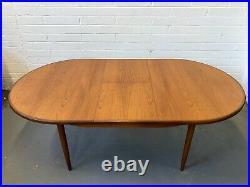 Vintage G Plan Fresco Teak Danish Dining Table & 6 Chairs. Retro Kofod Larsen