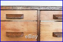 Vintage Glazed Haberdashery Cabinet / Counter with Drawers by Harris & Sheldon
