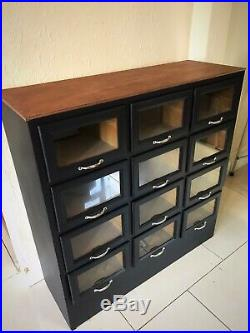 Vintage Haberdashery Cabinet Shop Display Drawers Sideboard Antique Chest