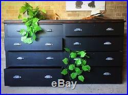 Vintage Haberdashery Shop Counter Drawers Kitchen Island Antique Dresser Cabinet