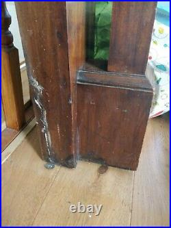 Vintage Large Edwardian Wooden Fire Surround With Mirror Architectural Antique