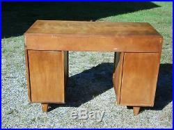 Vintage Mid Century Modern Heywood Wakefield Style Tanker Desk Shelves Bookcase
