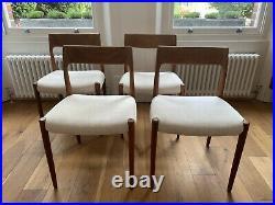 Vintage Model 77 Chairs by Niels Møller for J. L. Møllers, Set of 4
