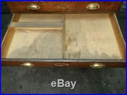 Vintage Plan Chest/Architects Chest 8 Drawers Oak antique