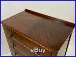 Vintage Queen Anne style walnut chest of drawers arts & crafts deco Delivery