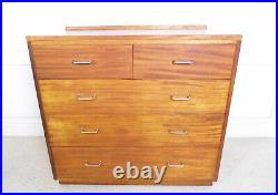 Vintage Retro Ex Military large Mahogany Formica Chest of drawers REMPLOY 60s