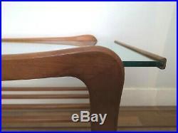 Vintage Retro Mid-Century Modern GPlan Coffee Table Teak Glass Danish style 60s