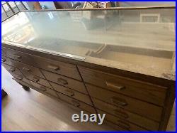 Vintage Shop Counter/ Haberdashery Cabinet/ Multi Drawer Unit/ Wooden Furniture