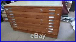 Vintage Wooden 8 plan /architect draw chest
