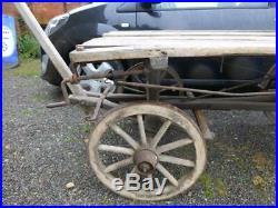 Vintage Wooden Cart Cart Wheels Cartwheel Flatbed Dray Flat Bed Shepherds Hut