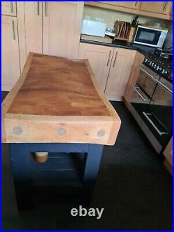 Vintage butchers block. Kitchen island / butchers block /butchers table