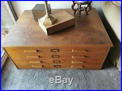 Vintage plan chest Drawing/Architects 4 drawers