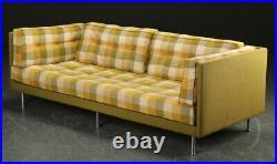 Vintage retro antique Danish Mid Century 3 seat sofa couch green yellow 60s 70s